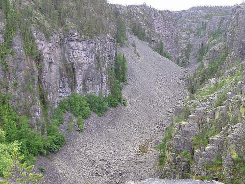 Jutulhogget ist ein 2,4 km langer Canyon in den Gemeinden Alvdal und Rendalen. Er entstand während der letzten Eiszeit, als ein Stausee unter dem Eis ausbrach und ein neuer Wasserlauf ostwärts durch lose Geröllmassen entstand.