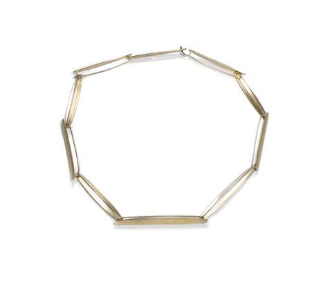 """""""A50"""" Collier - Gold - Palladium Mokume Gane Halsschmuck, Kette"""
