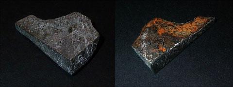 Gibeon-Meteorit auch mit Außensicht