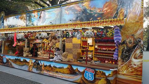 D. Claus: Schießbude (Aufnahme 10/2019 Hubertusmarkt Bergheim)