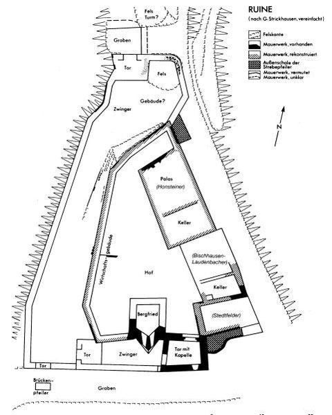 (Quelle: Uwe Fiedler - Die Boyneburg bei Sontra-Wichmannshausen. Wiesbaden, 1992)
