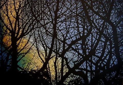 Waldansicht     1,40 x 1,20 m     Acryl auf Leinwand  /  acrylic on canvas