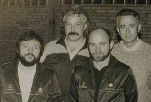 Heinz-Josef Britscho, Siegbert Mück, Willi Fischer und Hans-Rudolf Remy