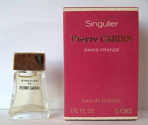 PIERRE CARDIN - SINGULIER, EAU DE TOILETTE 5 ML : MINIATURE ASSORTIE AU FLACON 1ère TAILLE CI-DESSOUS