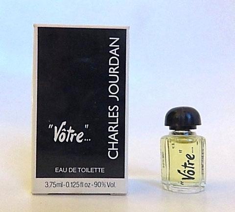 JOURDAN CHARLES : VÔTRE, EAU DE TOILETTE 3,75 ML - BOUCHON EN PLASTIQUE NOIR