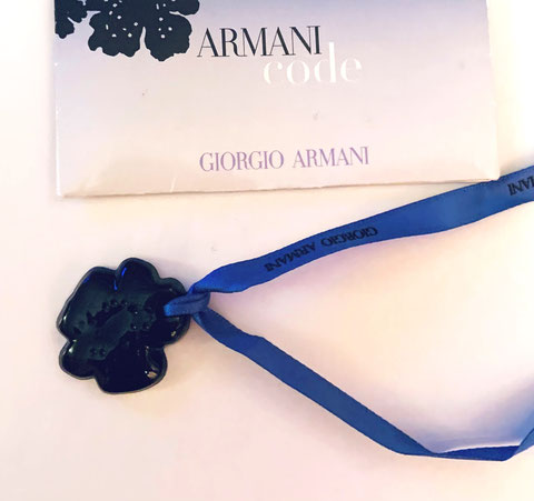 ARMANI - ARMANI CODE : CERAMIQUE BLEUE MONTEE SUR RUBAN