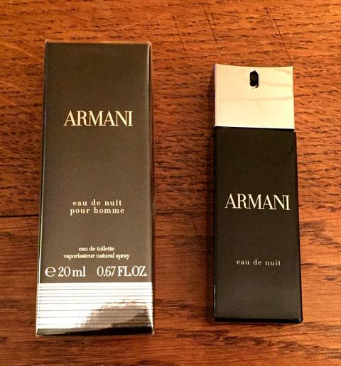 ARMANI -  EAU DE NUIT POUR HOMME : VAPORISATEUR EAU DE TOILETTE 20 ML