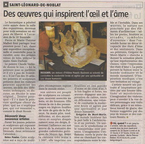 Article-Le Populaire du Centre 22/09/2016