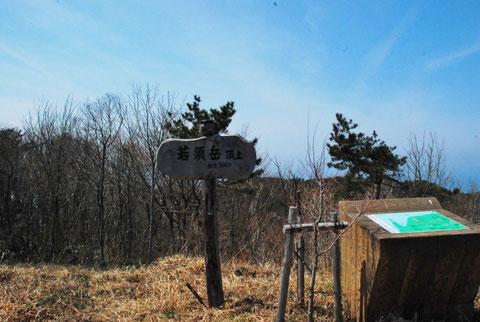 よく整備された山頂です。立木がもうちょっと低ければバックは日本海でした。