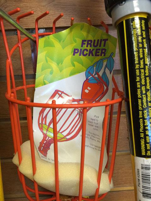サンディエゴのガーデンセンターで見つけたアメリカらしい庭道具 庭になったフルーツを採る為の道具!!