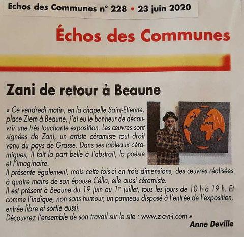 Echo des Communes - Juin 2020