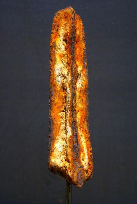 Acier oxydé soclé sur tige d'acier - Collection Particulière (Norvège & Luxembourg)