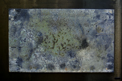 Terre cuite réfractaire, cuisson au bois en four Anagama - Réalisée au Japon - Hauteur : 51cm - Largeur : 77cm - Collection Privée (France)