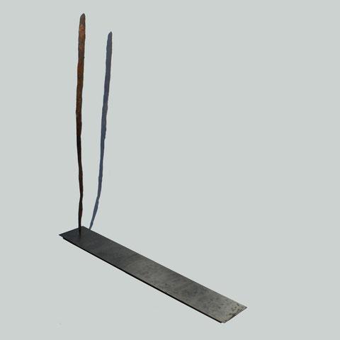 """""""L'Homme et son Ombre 2 (2013)"""" - """"The Man and his Shadow 2 (2013)"""" - Longueur : 75cm - Largeur : 11cm - Hauteur : 80cm - Collection de l'artiste"""