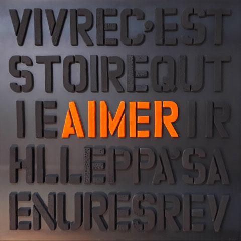 Terre cuite émaillée sur plaque d'acier - Hauteur : 100cm - Largeur : 100cm - Collection Privée (Belgique)