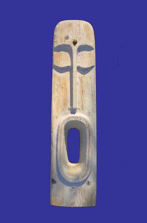 Bois, fer et argile cru - Hauteur : 110cm - Largeur : 27cm - Profondeur : 15cm - Collection de l'artiste