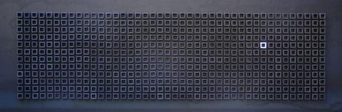 Terre cuite émaillée sur plaque d'acier - Hauteur : 62,5 - Largeur : 187cm - Collection Privée (France)