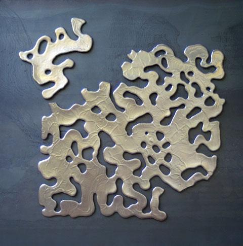Terre émaillée sur plaque d'acier - Hauteur : 62,5cm - Largeur : 62,5cm - Collection Privée (France)