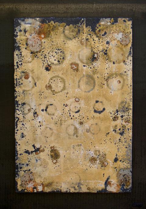 Terre cuite réfractaire, cuisson au bois en four Anagama - Réalisée au Japon - Hauteur : 74cm - Largeur : 52cm - Collection de l'artiste