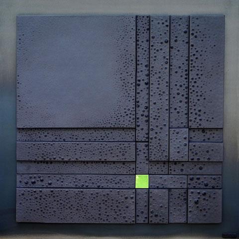 Terre cuite émaillée sur plaque d'acier - Largeur : 62cm - Hauteur : 62cm - Collection Privée (France)