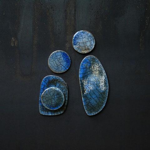 """""""Tryptophane 7 (2012)"""" - Terre cuite émaillée façon Raku - Largeur : 50cm - Hauteur : 50cm - Collection Privée (Italie)"""