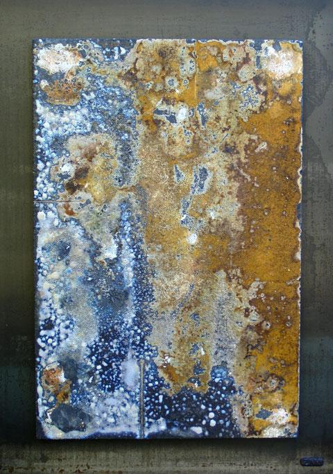Terre cuite réfractaire, cuisson au bois en four Anagama - Réalisée au Japon - Hauteur : 74cm - Largeur : 52cm - Collection privée (France)