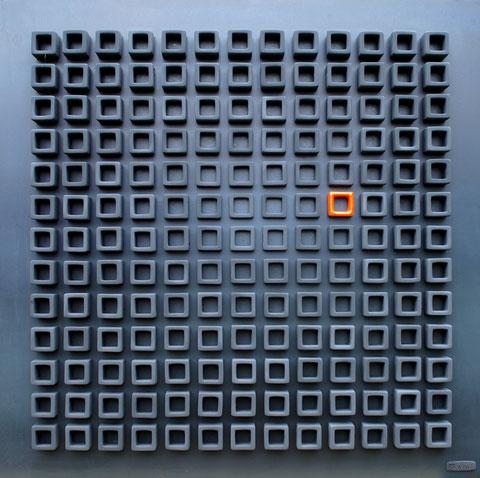 Terre cuite engobée et émaillée sur plaque d'acier - Largeur : 62,5cm - Hauteur : 62,5cm - Collection Privée (Suisse)