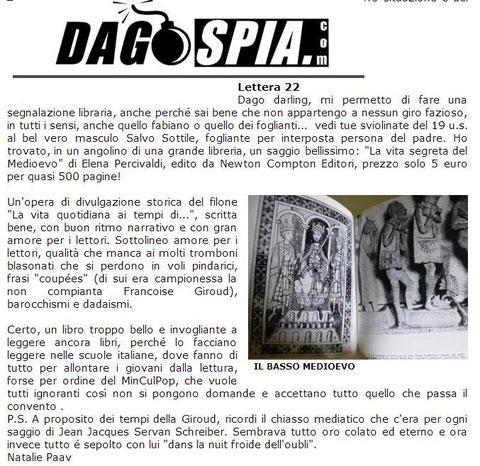 """La """"Vita segreta del Medioevo"""" su Dagospia"""