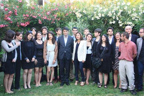 Nicole Guedj et la délégation reçus par s.e Monsieur Patrick Maisonnave, Ambassadeur de France en Israël.