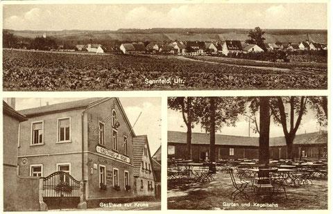 Metzgerei und Gasthaus zur Krone um 1935. Inhaber Georg Alberth