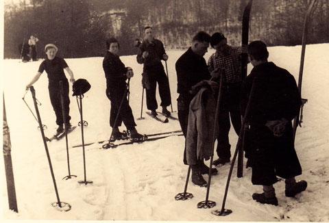 Skifahren in Zell 1937