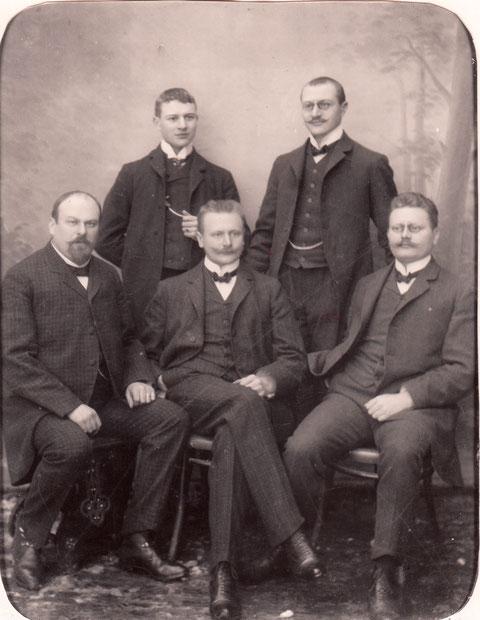 von links oben: Fritz, Richard, Karl, Franz und August Brändlein