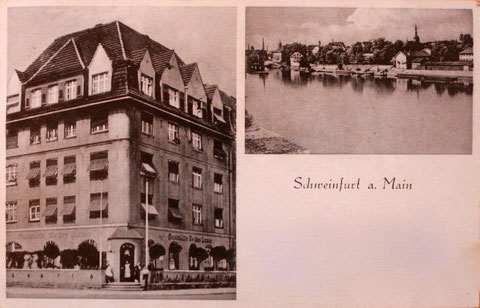 Ecke Landwehrstraße/Luitpoldstraße - Gaststätte Weißes Lamm in der Vorkriegszeit