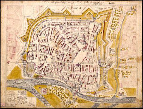 Stadtplan Tauber 1778