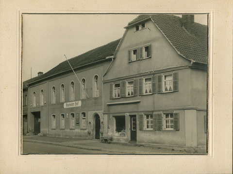 Fränkischer Hof Hauptstraße 11, rechts daneben Metzgerei Franz Hehn