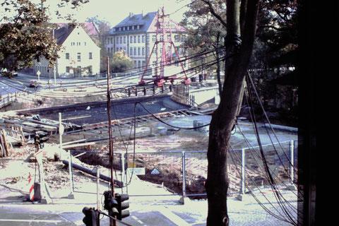 Baustelle große Marienbachbrücke am 19.10.1975 - Danke an Fam. Feyh