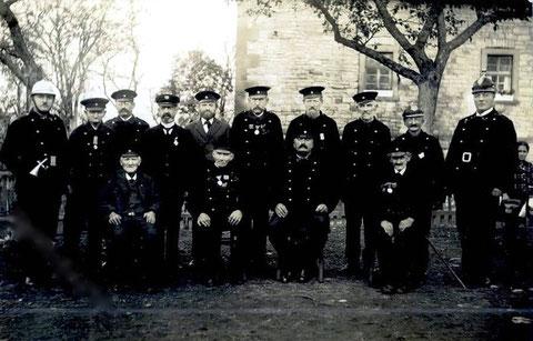 Die freiwillige Feuerwehr in Schweinfurt ca. 1915