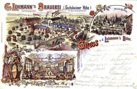Georg Lohmanns Brauerei 1902 mit Privatgarten