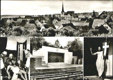 Ort der Passionsspiele - hier alte Postkarte