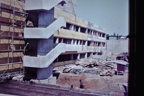 4.7.1976 - Baustelle Leopoldina-Krankenhaus - Danke an Christel Feyh - Foto Helmut Feyh