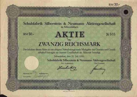 Aktie von 1930