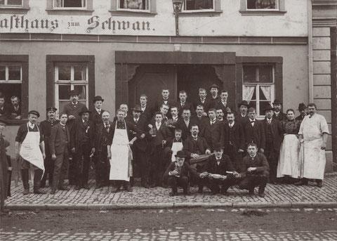 Rückertstraße 10 Gasthaus zum Schwan Schlachtschüssel 1910