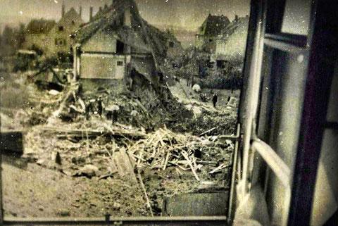 Der Rest des vorgenannten Anwesens nach dem Angriff 1943