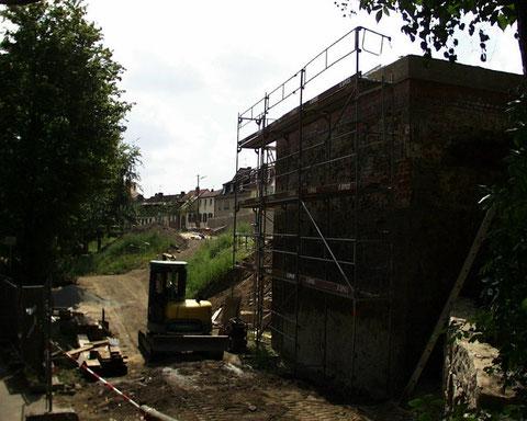 Arbeiten am Oberen Wall - Weißer Turm
