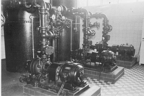 """Anlage der Wasserhochdruckpumpstation """"Obertor"""" 1939"""