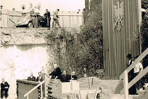 Grundsteinlegung Rathausneubau Mai 1954