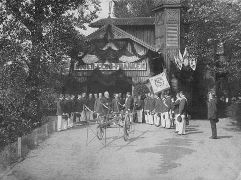 1903 - Kgl.Besuch beim Ruderclub - S. Kgl. Hoheit der Prinz Ludwig von Bayern im Bootshaus