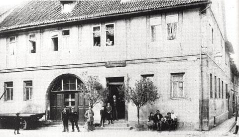 Das Apostelhaus Ecke Zehntstraße in seiner ursprünglichen Form vor der Aufstockung