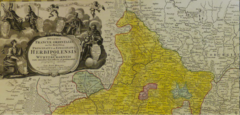 """Schweinfurt als """"freier Reichsstadt-Stachel"""" im Bistum Würzburg ca. 50 Jahre vor dieser Beschreibung Bitte durch Anklicken vergrößern!"""