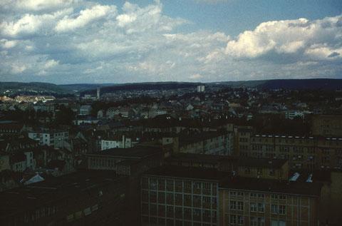 26. August 1962 -  Blick in Richtung Innenstadt